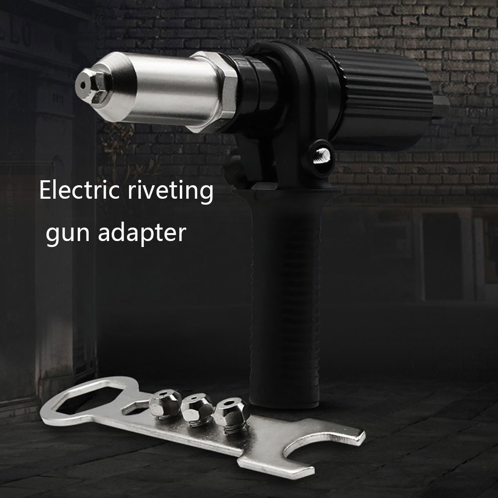 Electric Rivet Gun Riveting Adapter Insert For Cordless Drill Riveter Gun With Handle Nail Gun Aluminum Rivet Nail Gun Rivets