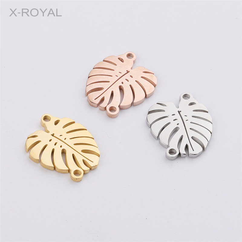 10pcs 18x40mm Silver Stainless Steel Earrings Connectors Charms Pendants DIY
