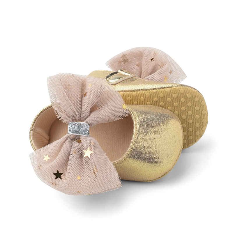2019 Infant Newborn Baby Girls Shoes Soft Crib Anti-slip Non-slip Rose Gold Princess Baby Shoes Sneakers For Girls Baby Booties