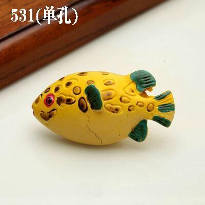 1 шт. морская серия полимерные ручки тянет ручка ящика шкафа и ручка для домашнего оборудования дверные ручки для мебели морская Морская звезда - Цвет: 531 Fat fish