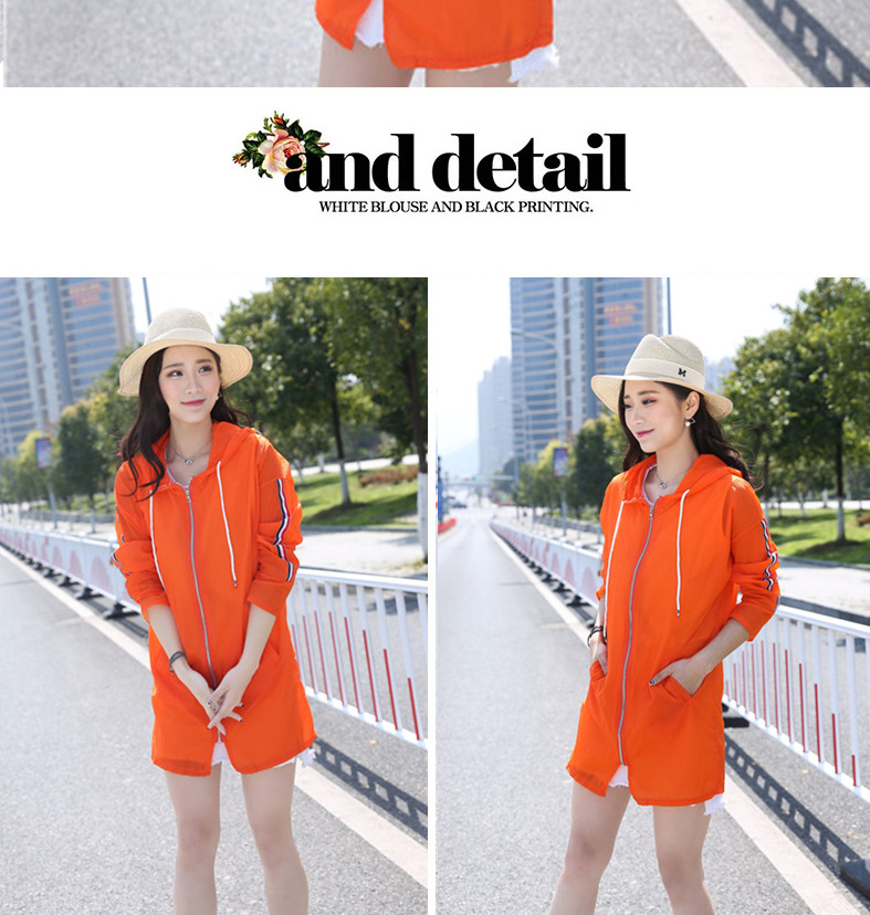 H2fae4395f352403f8bb5cd102ae47182k Sun Protection Clothing Women's Summer Mid-length 2017 Korean Coat Large Size Beach Sun Protection Clothing Breathable Hooded Su