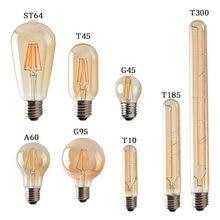 Ampoule rétro Vintage Edison, ampoules à Filament, 220V, 4W, 6W, 8W, LED, T45, A60, ST64, G80, G95, LED