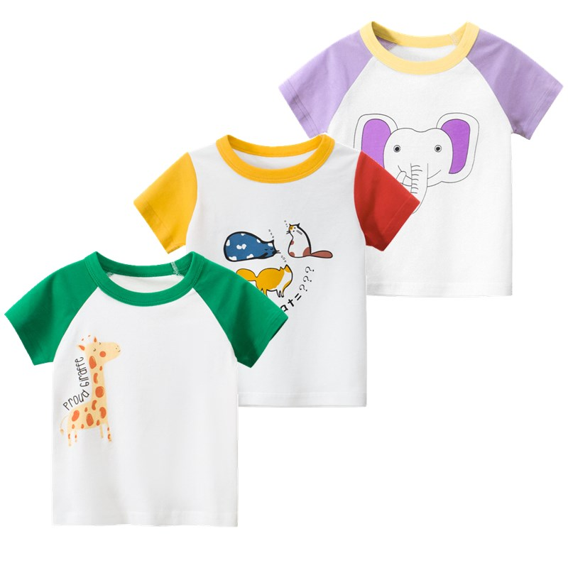 New Style 2020 Summer Baby Clothing Short-sleeve O-neck T-shirt Cartoon Pattern Kids T-shirts Cotton Girls Boys Casual Clothes