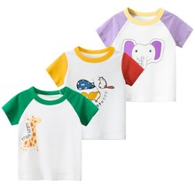 New Style 2020 Summer Baby Clothing Short-sleeve O-neck T-shirt Cartoon Pattern Kids T-shirts Cotton Girls Boys Casual Clothes цена и фото