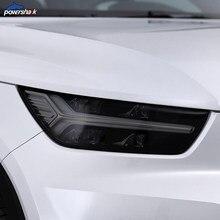 2 adet araba far tonu siyah koruyucu Film şeffaf TPU etiket Volvo S60 XC90 XC60 XC40 V60 V90 S90 aksesuarları