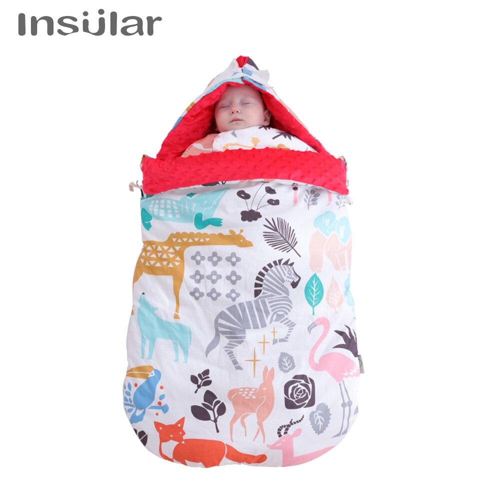 Coton insulaire anti-coup de pied bébé nouveau-né lange d'emmaillotage sac de couchage infantile sur lit ou poussette bébé literie ensemble couverture automne hiver