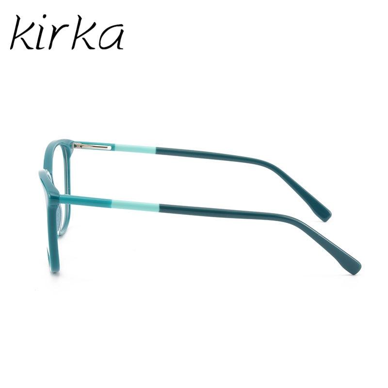 Image 5 - Kirka óculos frame feminino vintage senhora óculos quadro lente clara óculos de leitura óculos ópticos armação de prescrição feminino-in Armações de óculos from Acessórios da Moda on AliExpress