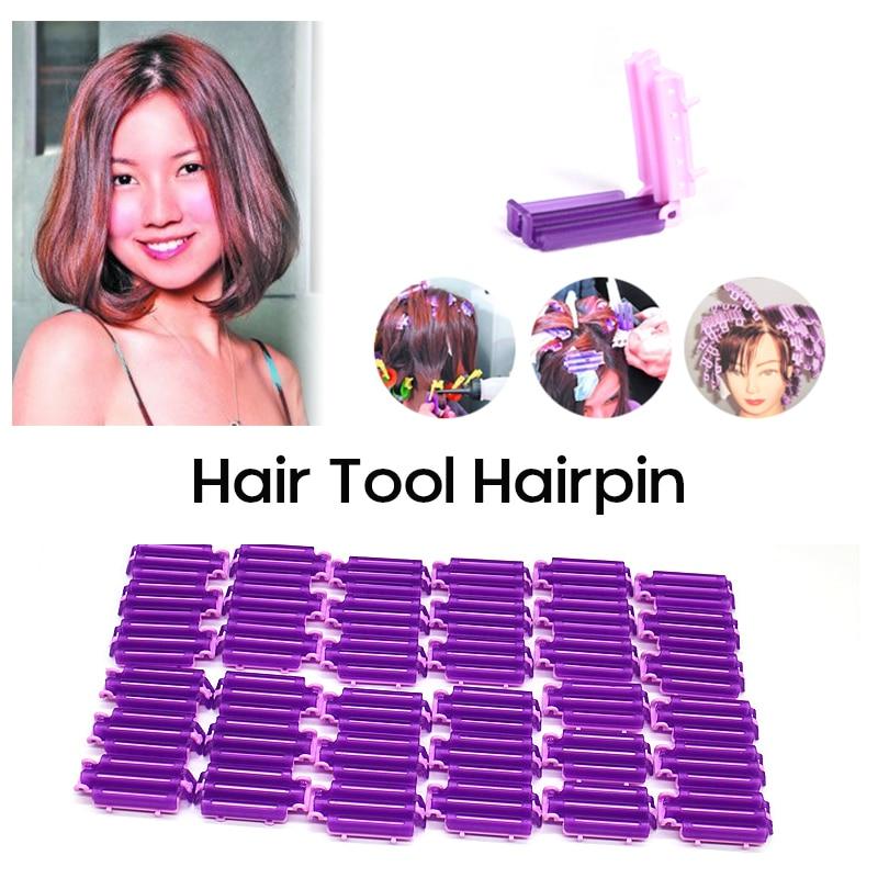 45 adet kadın stil bigudiler kıvırma kabarık kelepçeleri dalga perma çubuk DIY barlar mısır klipleri oluklu saç bigudi şekillendirici araçları