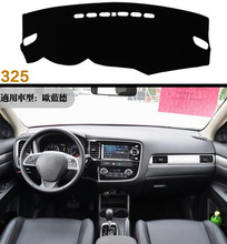 Car dashboard Avoid light pad Instrument platform desk cover Mats Carpets For Mitsubishi Outlander 2013 2014 2015 2016 2017 2018 dongzhen fit for mitsubishi asx 2011 to 2016 car dashboard cover avoid light pad instrument platform dash board cover