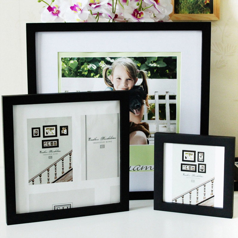 Wood Photo Frame Square Stand Picture Frame for Wall Art Picture Wooden Poster Frames Nordic Style Living Room Home Decor