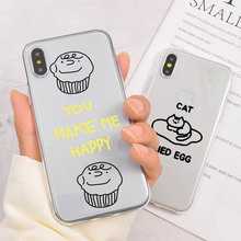 Cute Phone Case Coque For iPhone XR 6 S Plus X XS Max SE Cartoon Summer Fruit Avocado Clear Cover 8 7