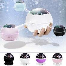 Nuovo LED Luce sogno rotazione romantico Luce Proiettatore USB Batteria Bambino regalo Luce notturna Luce decorativa