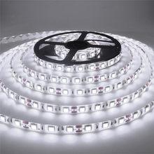 Taśma led 5 m/rolka 2835 strumień świetlny wyższy niż stary 3528 5630 5050 taśma LED SMD light 60 leds/m lampa 12V String Decor
