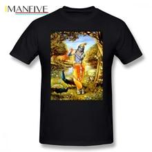 Krishna T Shirt Bali Krishna T-Shirt Print 100 Cotton Tee Shirt Short Sleeve Fun Classic Plus size Man Tshirt