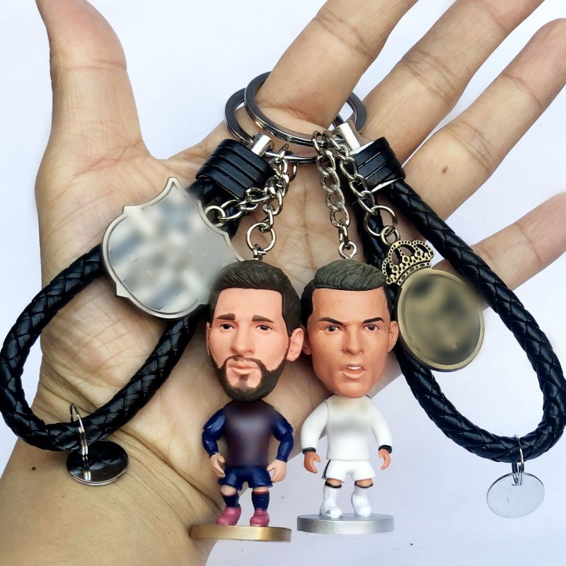 3D Sports Football Player Keychain For Soccer Lovers Mini Figures Key rings For Men Women Kids Gift Fashion Jewelry Gift