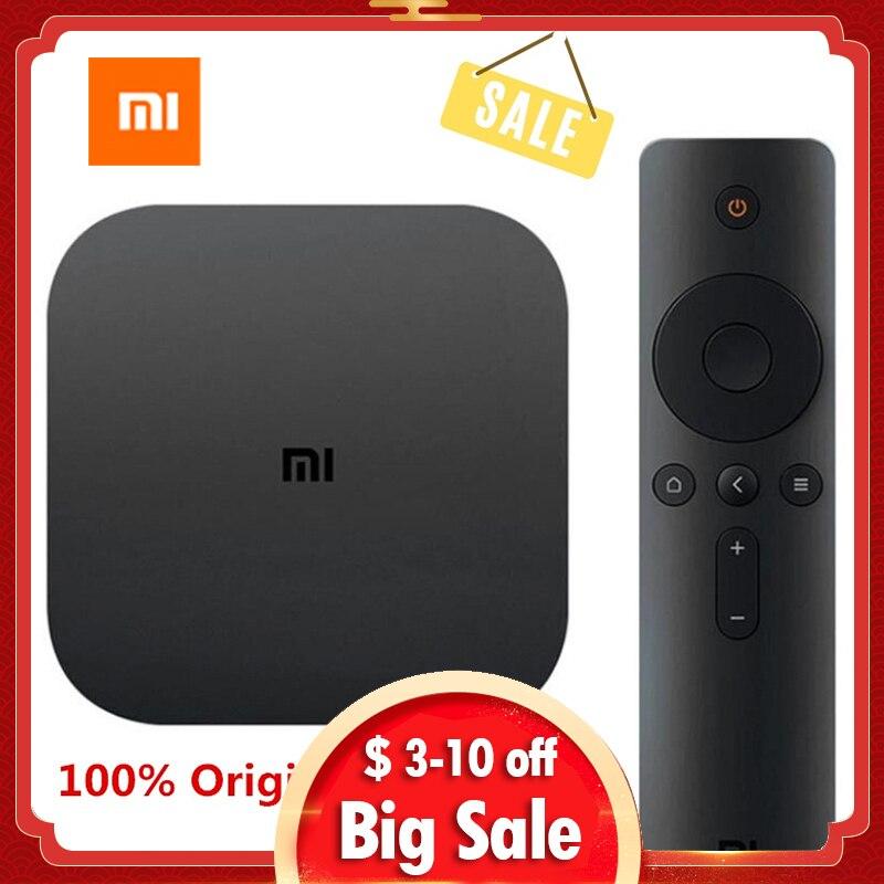 Xiaomi MI TV Box White 4 Black 4C 4K TV Caja Amlogic Cortex-A53 Quad Core 64bit 1G + 8G DTS-HD 2,4 GHz WiFi USB 2,0 Set-top
