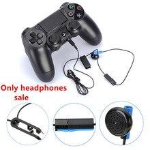 Gamepad fone de ouvido com microfone para ps4 controlador fones de ouvido acessórios do jogo ecouteur filaire