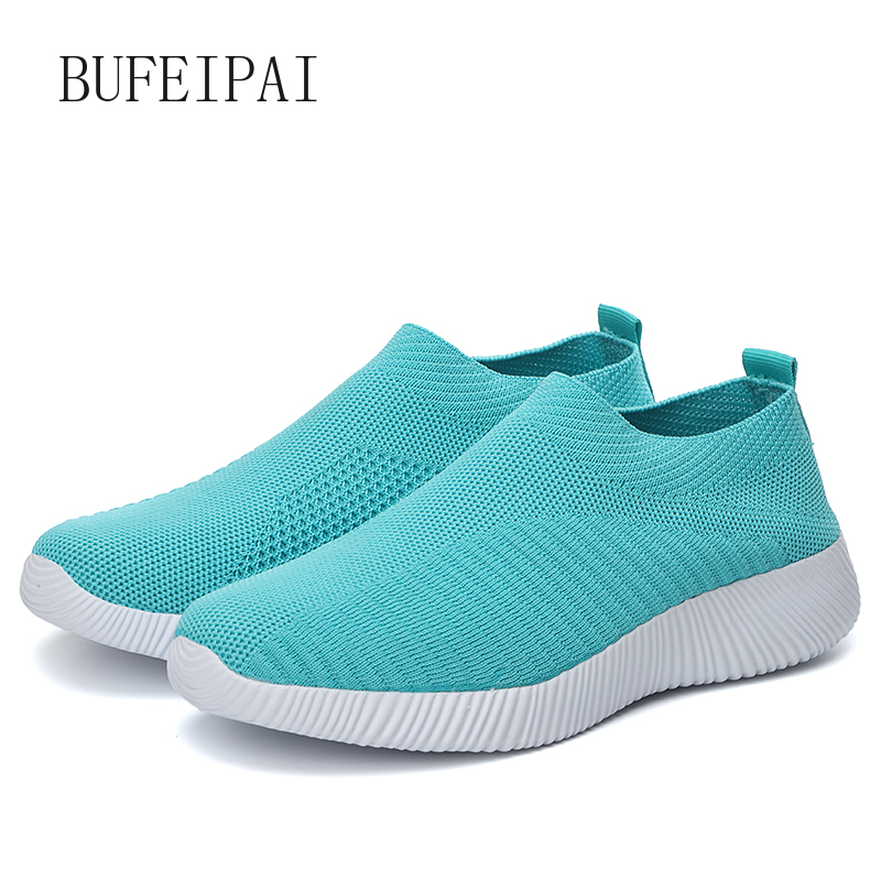 BUFEIPAI Women's Jogging Shoes Breathable Outdoor Sneakers Women's Light Sneakers Women Comfortable Sports Training Shoes