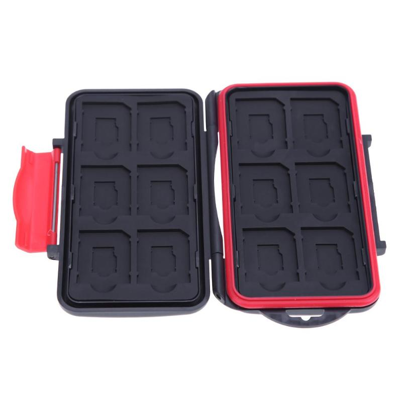Memory Card Box 12SD+12TF Cards Protecter Case All In One Large Shockproof Storage Case For SD/ SDHC/ SDXC/ Micro SD/TF Card