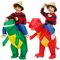 Kids Inflatable Dinosaur Costume Party Cosplay Costumes Animal Child Costume Suit Anime Purim Dino Boys Girls Halloween Costume