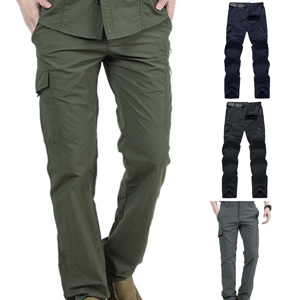Tactical Pants Military Cargo Pants Men  Solid Color Clothes Hunter Field Combat Trouser Overalls