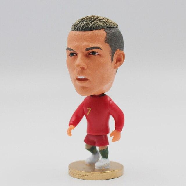 6.5cm Height Dolls C.Ronaldo Neymar Robben Beckham 2.5inch Resin Figurine