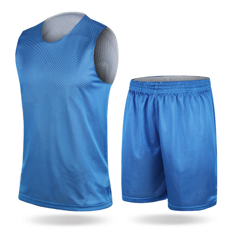Basketball Wear Loose-Fit Breathable Double-Sided Mesh Training Vest Cool Printed Number Customizable Sports Racing Suit Set