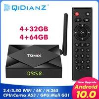 Dispositivo de TV inteligente TX6S, decodificador con Android 10, dispositivo de tv inteligente, 4GB, 32GB, 64GB, Allwinner H616Quad Core, 4K, reproductor multimedia, pk x96 max