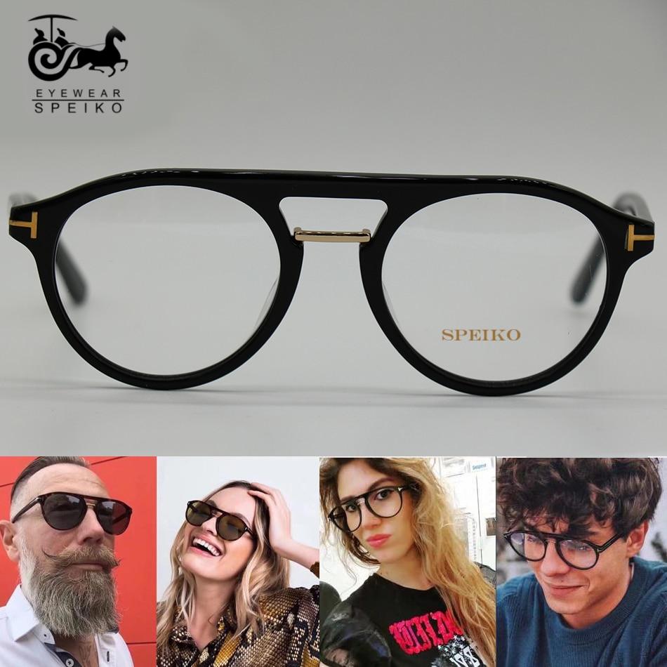 SPEIKO 675 haute qualité lunettes cadre pilote style lunettes hommes et femmes lunettes grand cadre peut être myopie/lunettes de lecture TF0675