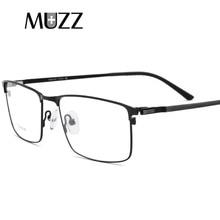 Titanium Alloy glasses frame Men Square Myopia Prescription eyeglasses frames Metal Full frame Reading Optical Screwless Eyewear цена и фото