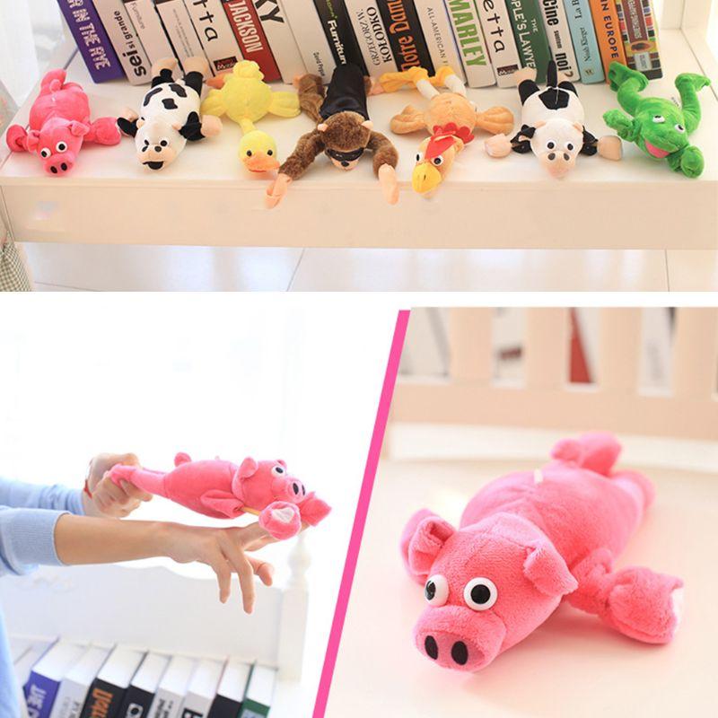Children Christmas Plush Slingshot Flying Scream Animal Doll Kids Festival Gifts