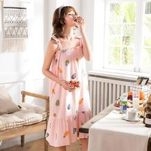 Artificial cotton sleeveless Style Women Sleepwear Suit Home Female Sleep Lounge Sexy fashion homewear