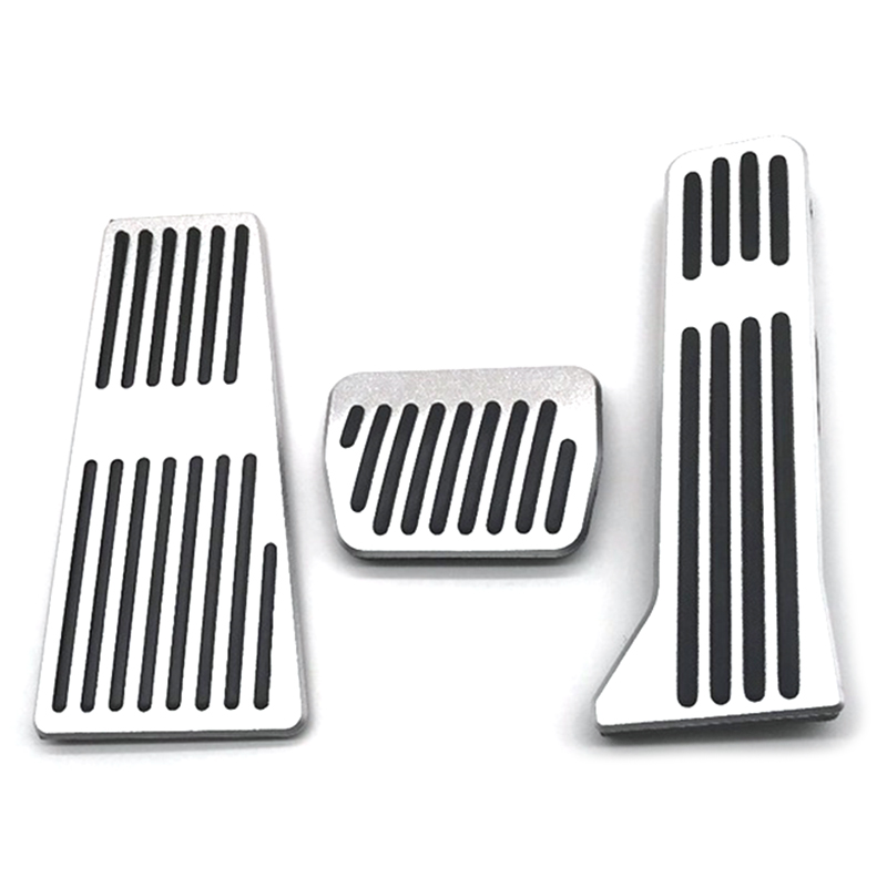 for Mazda 2 3 6 CX 3 CX 4 CX 5 CX 9 Car Performance Brake Pedal Cover No Drill Non-Slip and Throttle Rubber Aluminum Anti-Skid Pedals Set at with Logo 2Pcs