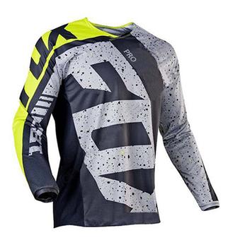 2021 zespół mtb Motocross koszulka PRO Fox Maillot DH kolarska koszulka zjazdowa tanie i dobre opinie CN (pochodzenie) 100 poliester 80 polyester 20 lycra Z długim rękawem Zestawy koszulek Dobrze pasuje do rozmiaru wybierz swój normalny rozmiar