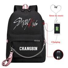 Mochila Kpop Stray Kids Backpack Women Backpacks