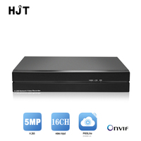 HJT H.265/H.264 16CH POE NVR supports HDMI P2P mini CCTV security system NVR DVR recorder 4 channel NVR real time recording