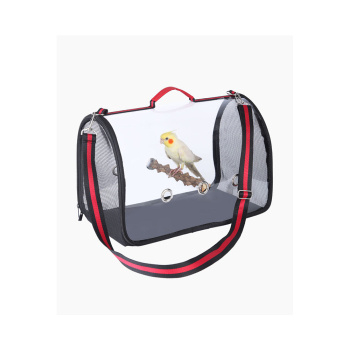 1KG Portable Bird Cage Macaw Bag with Wooden Standing Stick Foldable Breathable Bird Bag Two-way Ventilation Parrot Cage 1