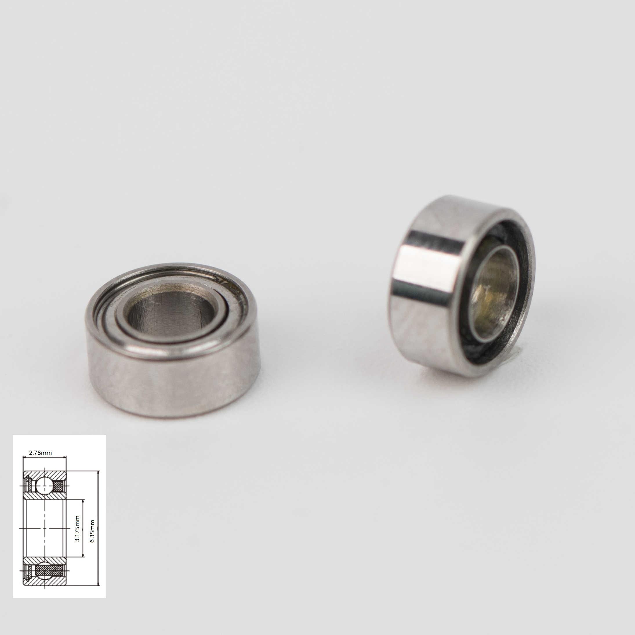 10pcs high speed Sirona T2/T3 handpiece turbine cartridge rotor bearings SR144TLZWNBearings   -