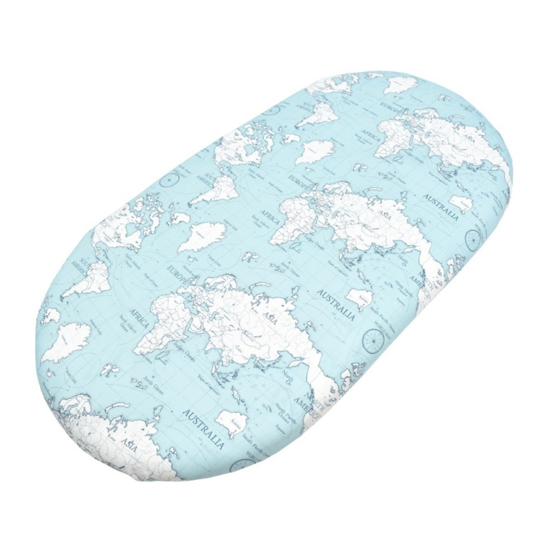 D7WF Baby Moses Basket Sheets Crib Care Changing Pad Mattress Printed Removable Cover
