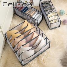 CellDeal 3 kolor bielizna Organizer biustonoszy schowek szuflada szafa organizator pudełka na bielizna szaliki skarpetki biustonosz przegroda szuflady tanie tanio NYLON