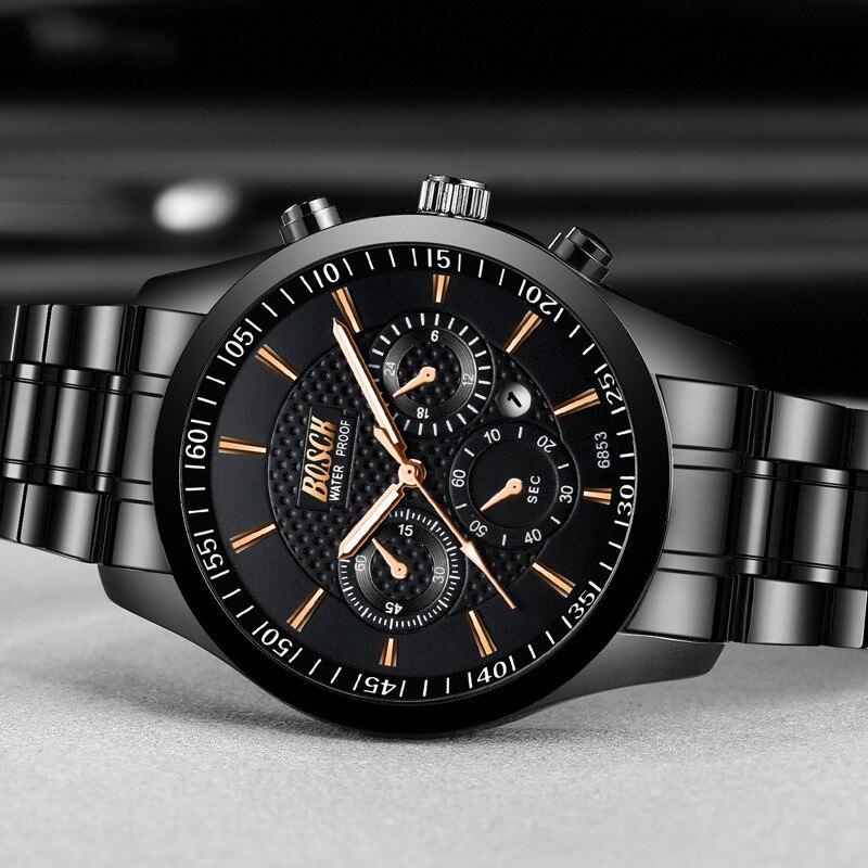 Часы наручные мужские кварцевые с хронографом модные роскошные