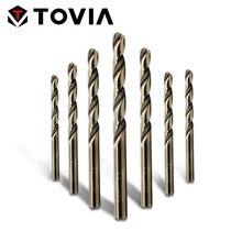 TOVIA 1.0-13mm HSS Cobalt Drill Bit For Stainless Steel Woodworking M35 Twist Drill Bit Drill Hole Cutter Metal Drilling