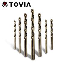 TOVIA 1 0-13mm wiertło kobaltowe HSS do obróbki drewna ze stali nierdzewnej M35 wiertło spiralne wiertło do otworów wiercenie metali tanie tanio T TOVIA Metalworking Wiertło kręte CN (pochodzenie) High speed steel Twist drill bit set stainless steel drill cutter