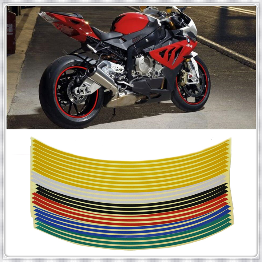 Motocycle Reflective <font><b>Sticker</b></font> bike Decal 17'/18' <font><b>Wheel</b></font> For <font><b>YAMAHA</b></font> YZF 600R Thundercat R1 <font><b>R6</b></font> R25 R3 FZ1 FAZER FZS 1000S image