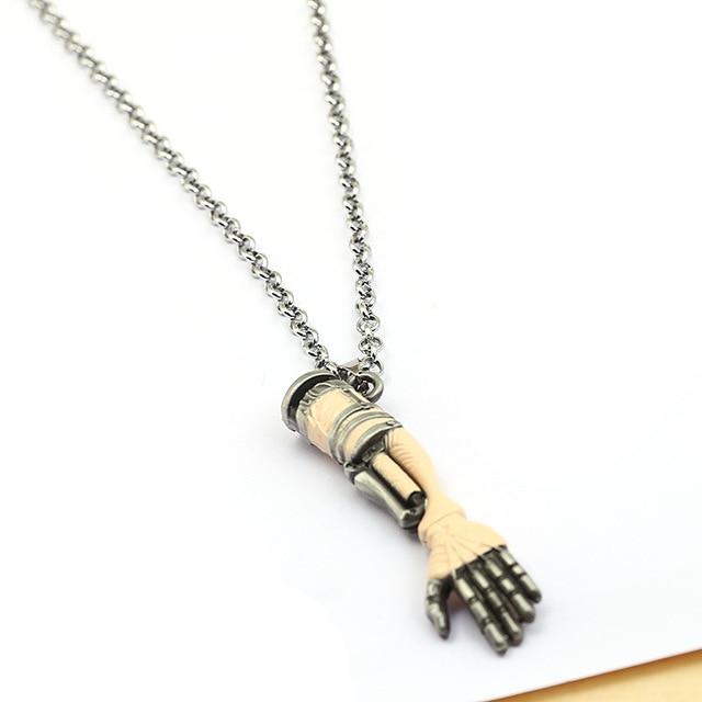 ZXMJ films populaires Sekiro ombres meurent deux fois collier pendentif bras mécanique 60cm lien chaîne colliers pour cadeaux de noël