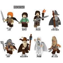 PG8160 Single Sale Building Blocks Hobbit Lord of the Rings Samwise Gamgee Frodo Baggins Gandalf Radagast Figures Children Toys