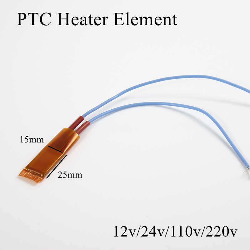 1pc 25x15mm 24V 80 Grad Celsius PTC Heizung Element Konstante Thermostat Isolierte Thermistor Keramik Air heizung Platte Chip