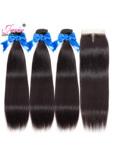 Hair-Bundles Closure Remy-Hair Jarin Women Brazilian 100%Human-Hair Straight with