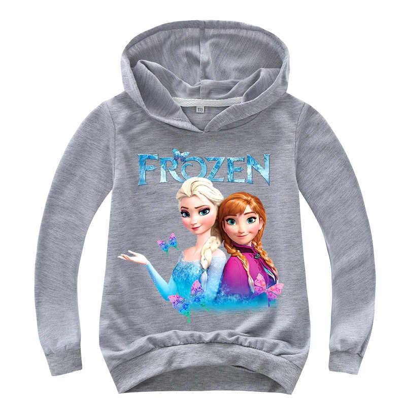 Nouveau 2019 enfants bébé garçons filles bambins congelés 2 Elsa Anna impression sweats à capuche dessin animé survêtement enfants vêtements sweats mignons