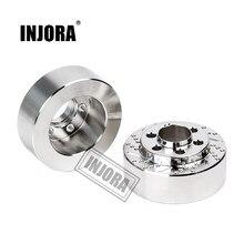 Injora 2 pçs bronze prata anodizado pesos do disco de freio para 1.9 2.2 polegada roda trx4 trx6 axial scx10 90046 axi03007